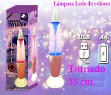 Lámpara twister colores led cambiantes 33 cm. Relaja relax novedad luz decorativ