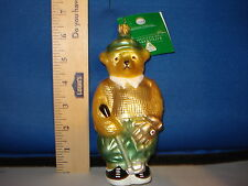 Golf Ornament Tee Time Bear by Goebel Glass Made in Germany 191020 238
