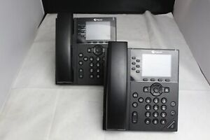 Lot Of 2 Polycom VVX 350 IP Business Phones 2201-48830-001 NO STANDS/ SEE PHOTOS