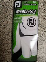 Footjoy FJ Weathersof Men's Golf Glove NEW White Left Hand