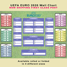 More details for euro 2020 planner poster wall chart - from group stage to finals at wembley