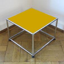* USM Haller Beistelltisch TV-Ständer Tisch * Gelb Goldgelb * TV Möbel * 50x50 *