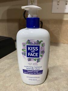 Kiss My Face Hand Soap Moisturizing Lavender Shea Aloe Olive Oil Vegan
