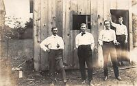 B52/ Occupational Real Photo RPPC Postcard Workers c1910 Office Staff Pipe Men13