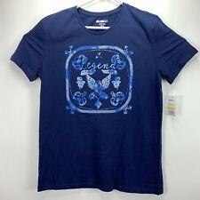 4c846ce0 William Rast Mens Graphic T-Shirt Medieval Blue Legend Bandana M
