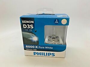 OPEN BOX D3S Philips Ultinon HID Xenon Headlight Bulbs 6000K Pack of 2 MC137-1