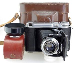 Voigtländer Bessa 66 Folding Camera, Heliar Lens, Case, Film Tested BUT SEE DESC