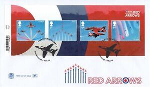 (56733) GB Stuart FDC RAF Red Arrows minisheet Farnborough 2018