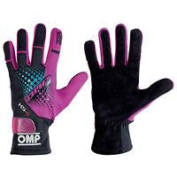 Genuine OMP Factory Seconds - OMP KS-4 KS4 KART GLOVES KARTING in PURPLE/BLACK