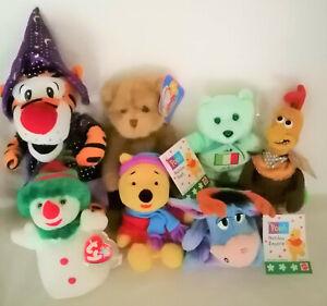 Ty Beanies, Disney Winnie the pooh, Eeyore, Tigger, Rocky, Daz collectables  NWT