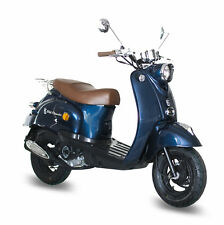 GMX 460 Retro Scooter 45 km/h blau 4Takt 50ccm Motor Roller Mokick Euro 4 B-Ware