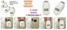 Electronic Radiator Thermostat - With Timed Temperature Control - Pack of 4