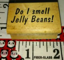 Do I smell jelly beans, art impressions,93,rubber,stamp, wood