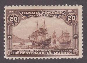 Canada 1908 #103 Quebec Tricentenary Issue - MH F
