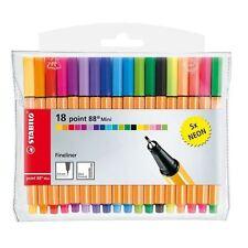 Stabilo point 88 mini fins dessin art stylos, neon fesses. pochette 18