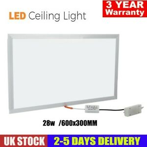 Large LED Panel Light Ceiling Recessed Or Suspended Modular Lighting Shop Office