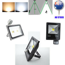 LED Flood Light 30/50/100W PIR Motion Sensor Square Security Spot Modern Outdoor