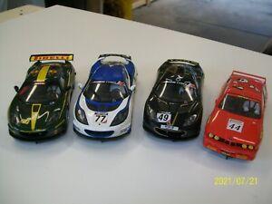 4 SCALEXTRIC digital slot cars
