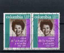 MARIA LOPEZ DE ESCOBAR.- pair hor.   used  >> COLOMBIA,- 1992