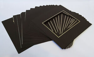 17x Traditional Photo Album 7 x 5 Overlays for Post Album - Brown Gold pinstripe