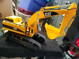 Vintage 1993 Toy State Cat Caterpillar RC Remote Control Excavator Working Order