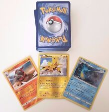100 POKEMON CARD LOT - COMMONS/UNCOMMONS WITH 5 HOLOS & 5 RARES + BONUS HOLOS!!
