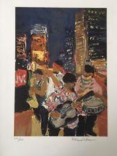 """ROLAND LEFRANC """"Jazz à Broadway"""" lithographie"""