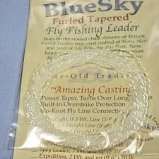 Bluesky Furled Tapered Leader,StillWater Medium-6 to 8 wt,For Fly Fishing