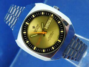 Jupiter Crystal Automatic Watch 1970s NOS Vintage Swiss 25 Jewel Cal ETA 2789