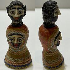 ancient phoenician multi faced glass temple worshipper rare