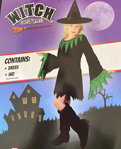 Witch Childs Costume for HALLOWEEN - Small 110-122cm -  FREE POSTAGE