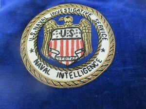 Original Vintage US Naval Investigative Service Naval Intelligence Raised Patch