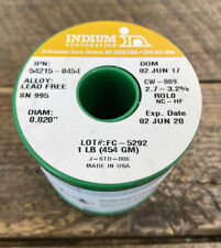 Indium Wire Solder, .020 in., SN995 LEAD FREE SOLDER CW-809, 1 lb. Spool