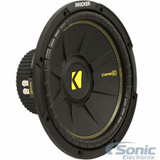 (2) Kicker CompC 44Cwcs104 1000W 10 Inch Single 4-Ohm Car Subwoofers