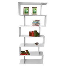 Display Shelf Storage Bookshelf 6 Level Tier Ladder Wall Bookcase Stand Rack US