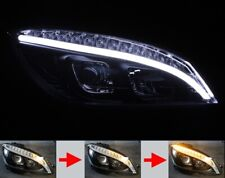 LED BAR Headlight for Mercedes Benz W204 S204 Black Light Tube Sequential