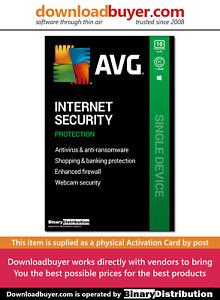 AVG Internet Security 2020 - 10 PC - 1 Year [Activation card]