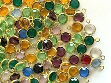L004 - 300+ Set w/ Swarovski Rhinestones 1-Eye Chanel Cut  Links -7mm Mix Colors
