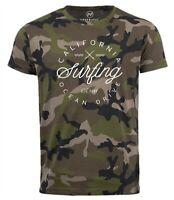 Herren Camo-Shirt California Surfing Ocean Drive Summer T-Shirt Camouflage