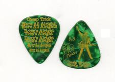 Rick Nielsen Cheap Trick Show Used Signature Guitar Pick - Green Mop