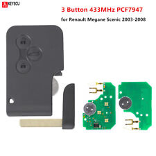 3BTN 434Mhz ID46 Remote Card Key Smart Fob for Renault Megane Scenic 2003-2008