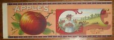 Troy North Carolina Apple Label Stock Image with Neal Clark Stamping