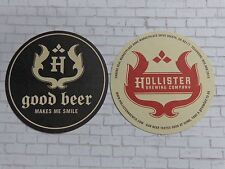 Beer Breweriana Coaster: HOLLISTER Brewing Co ~ Goleta, CALIFORNIA Craft Brewery