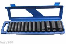 BERGEN Tools 13pc 1/2 Dr 6pt Deep Impact Sockets Metric 13-32mm B1327 .78MM O/L.