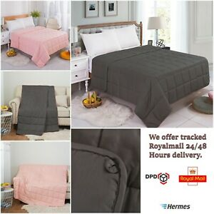 Luxury 100% Cotton Gravity Weighted Blanket Double Single Anxiety Therapy Sleep