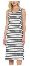 Matty M Summer Dress Maxi Long Sleeveless SIZE LARGE Blue White Stripe  NEW