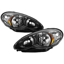 2006-2010 Chrysler PT Cruiser Classic Limited Base Touring Black Headlight +Bulb