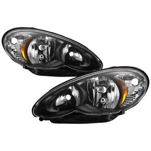 2006-2010 Chrysler PT Cruiser Classic Limited Base Touring Black Headlight +Bulb