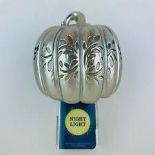 Bath & Body Works Silver Pierced Pumpkin Wallflowers Fragrance Plug Nightlight