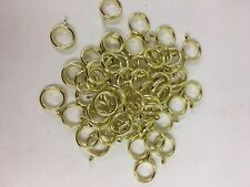 """Lot of 61 Gold colored plastic Curtain Rings 1 3/8"""" outside diameter New"""